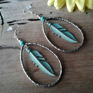Cowgirl Feather Earrings